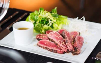 Pan Fried Tuna Steaks Marinated with Must Chup 'Kick'