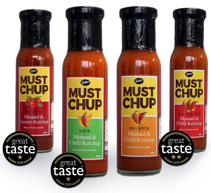 Mustard & Ketchup Sauce Bottles