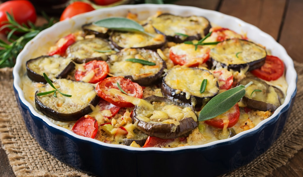Aubergine Bake with Must Chup